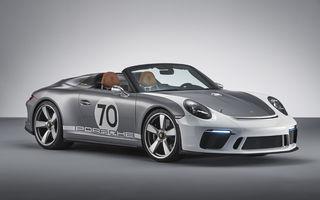Porsche 911 Speedster: noul concept cabrio retro de 500 CP marchează aniversarea de 70 de ani a constructorului german