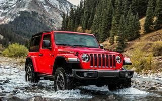 Noul Jeep Wrangler ajunge la toamnă în Europa: SUV-ul va oferi un motor diesel de 2.2 litri și 200 CP și unul pe benzină de 2.0 litri și 272 CP