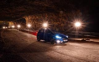 Ford Fiesta ST face spectacol într-o mină de sare: cei 200 CP au fost exploatați de Elfyn Evans, pilot în WRC