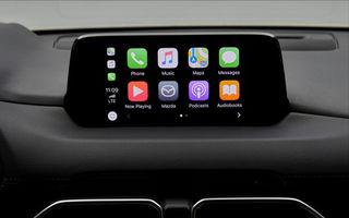 Mazda va permite conectarea telefoanelor la sistemul Connect: update-ul pentru Android Auto și Apple CarPlay apare în 6 august