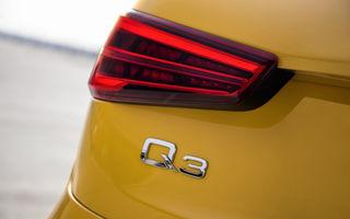 Noua generație Audi Q3 va avea și versiuni de performanță: viitorul SQ3 a fost surprins în timpul testelor de la Nurburgring