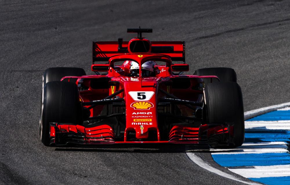 Vettel, pole position în Germania! Hamilton, locul 14 după o defecțiune tehnică la monopostul Mercedes - Poza 1