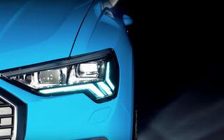 Primul teaser video cu noua generație Audi Q3: SUV-ul constructorului german debutează în 25 iulie