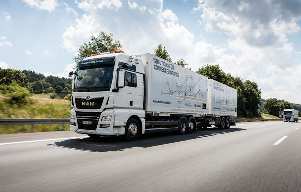Primii pași în noua eră: MAN eTGE, utilitara electrică gândită pentru livrări urbane, și convoiul de camioane conectate ale producătorului bavarez - Poza 15