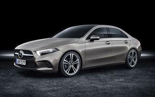 Mercedes Clasa A Sedan: rivalul lui Audi A3 Sedan are un motor pe benzină de 163 CP și un diesel de 116 CP