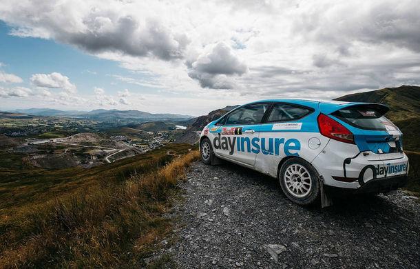 Campanie de promovare dusă la extrem: un Ford Fiesta pregătit pentru raliuri coboară pe tiroliană în Țara Galilor - Poza 9