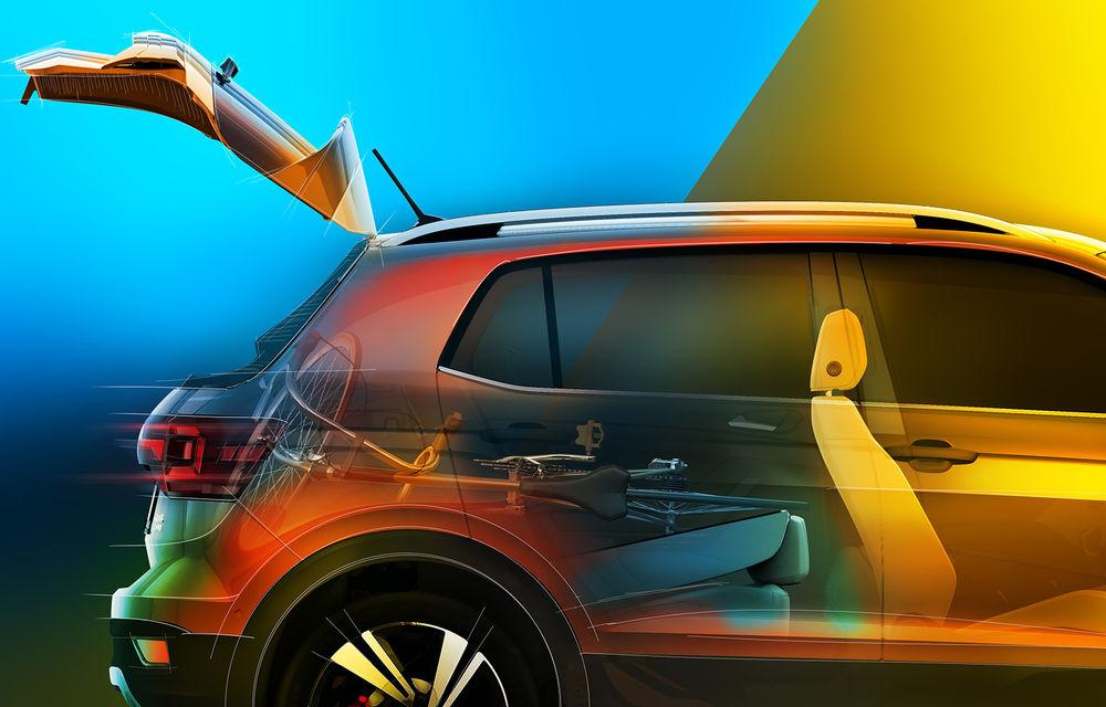 Volkswagen scoate în evidență atuurile lui T-Cross cu ajutorul unui teaser video: portbagaj de până la 455 de litri și sisteme de siguranță moderne - Poza 4