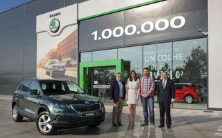 Sărbătoare la Skoda: cehii au ajuns la o producție de un milion de SUV-uri de la lansarea lui Yeti încoace