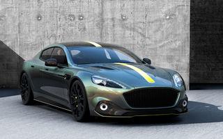 Detalii despre primul model electric de la Aston Martin: viteză maximă de 250 km/h pentru RapidE și aceeași tehnologie de încărcare ca Porsche Taycan