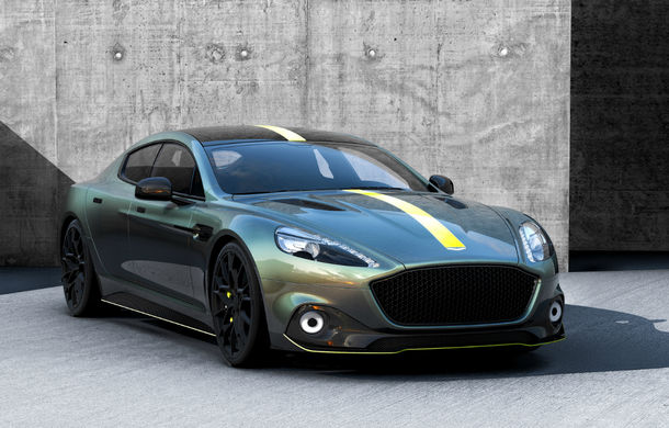 Detalii despre primul model electric de la Aston Martin: viteză maximă de 250 km/h pentru RapidE și aceeași tehnologie de încărcare ca Porsche Taycan - Poza 1