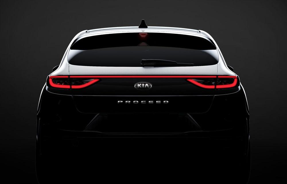 Primul teaser pentru Kia ProCeed: noul shooting brake se lansează în 13 septembrie - Poza 1