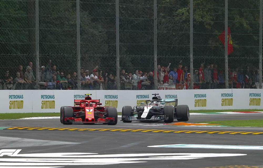 Hamilton a câștigat cursa de la Monza după un acroșaj la start cu Vettel și o depășire asupra lui Raikkonen. Bottas a completat podiumul - Poza 2