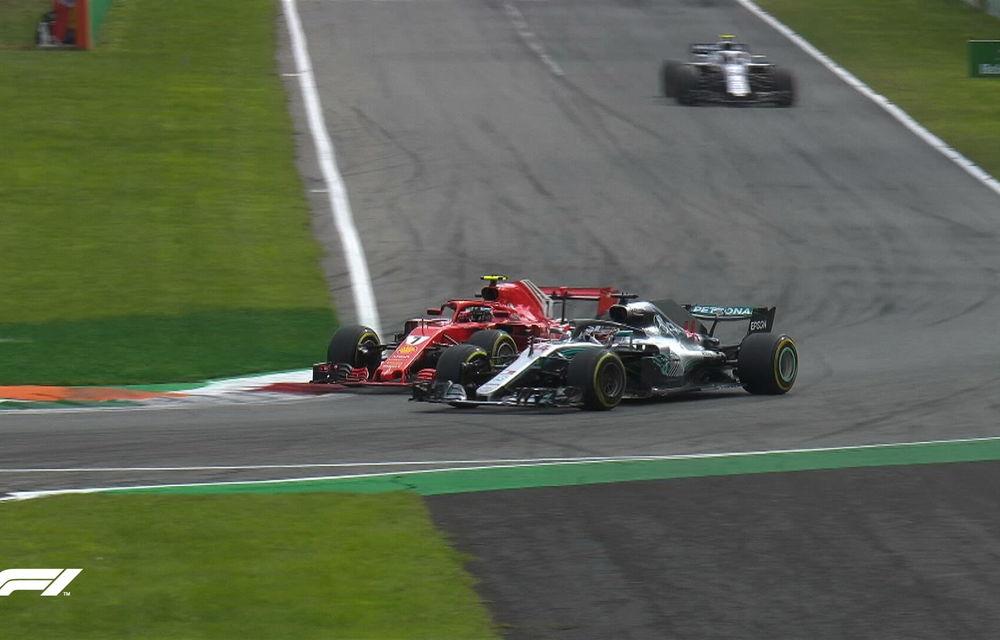 Hamilton a câștigat cursa de la Monza după un acroșaj la start cu Vettel și o depășire asupra lui Raikkonen. Bottas a completat podiumul - Poza 5