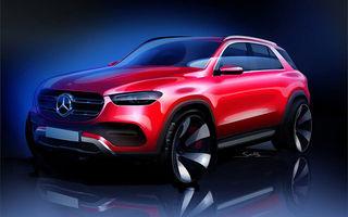 Prima schiță cu exteriorul noii generații Mercedes-Benz GLE: SUV-ul debutează în cadrul Salonului Auto de la Paris