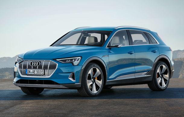 Audi e-tron, poze și informații oficiale: SUV-ul electric are 402 CP și autonomie de peste 400 de kilometri - Poza 1