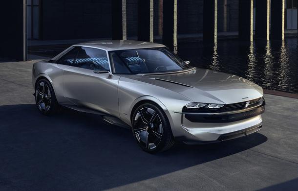 Peugeot e-Legend Concept: design retro, motor electric de 460 de cai putere și autonomie de 600 de kilometri - Poza 1