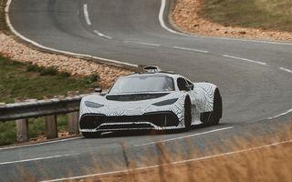 Mercedes testează sub camuflaj primele prototipuri Project One: hypercarul cu tehnologia hibridă din Formula 1, mai aproape de lansare
