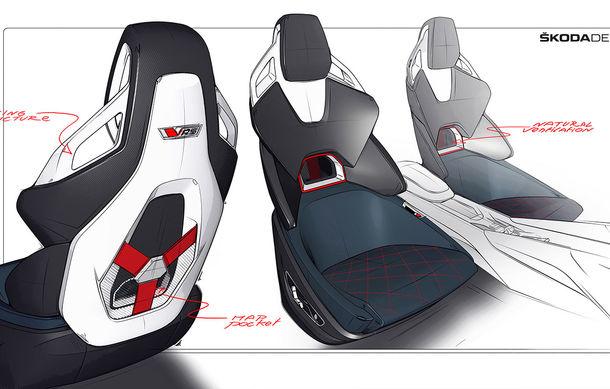 Imagini teaser cu viitorul Skoda Vision RS Concept: sistem hibrid de propulsie cu 245 CP și autonomie de 70 de kilometri în modul electric - Poza 4