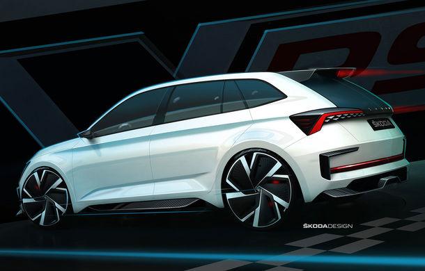 Imagini teaser cu viitorul Skoda Vision RS Concept: sistem hibrid de propulsie cu 245 CP și autonomie de 70 de kilometri în modul electric - Poza 2