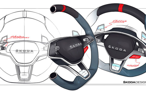 Imagini teaser cu viitorul Skoda Vision RS Concept: sistem hibrid de propulsie cu 245 CP și autonomie de 70 de kilometri în modul electric - Poza 5