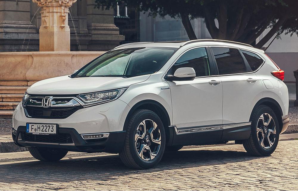 Primele imagini cu viitorul Honda CR-V Hybrid: sistem de propulsie de 184 CP și consum mediu de 5.3 litri/100 de kilometri - Poza 1