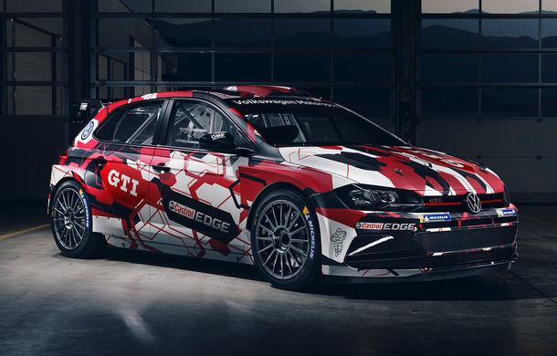 Volkswagen Polo GTI R5 îmbracă hainele de competiție: modelul destinat raliurilor debutează la finalul lunii octombrie în cadrul etapei din Spania - Poza 1