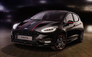 Îmbunătățiri pentru Ford Fiesta: modelul de clasă mică este disponibil în versiunile Red și Black Edition