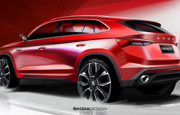 Primele schițe cu viitorul Skoda Kodiaq GT: SUV-ul coupe debutează la finalul anului și va fi comercializat exclusiv în China - Poza 2