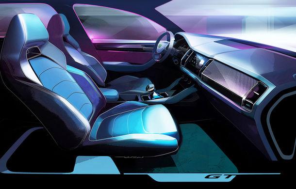 Primele schițe cu viitorul Skoda Kodiaq GT: SUV-ul coupe debutează la finalul anului și va fi comercializat exclusiv în China - Poza 3