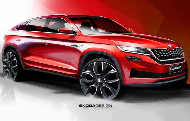 Primele schițe cu viitorul Skoda Kodiaq GT: SUV-ul coupe debutează la finalul anului și va fi comercializat exclusiv în China - Poza 1