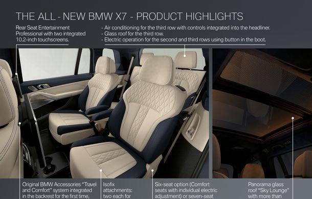 Oficial: BMW X7 se prezintă. Cel mai mare SUV din gama bavarezilor oferă 7 locuri și motorizări de până la 400 CP în Europa - Poza 57