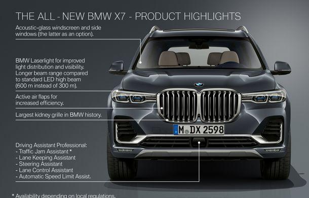 Oficial: BMW X7 se prezintă. Cel mai mare SUV din gama bavarezilor oferă 7 locuri și motorizări de până la 400 CP în Europa - Poza 54