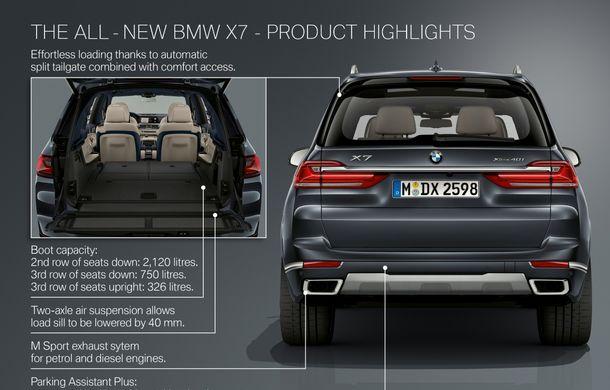 Oficial: BMW X7 se prezintă. Cel mai mare SUV din gama bavarezilor oferă 7 locuri și motorizări de până la 400 CP în Europa - Poza 56