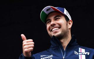 """Perez și-a prelungit contractul cu Force India pentru sezonul 2019: """"Vom obține rezultate mai bune"""""""