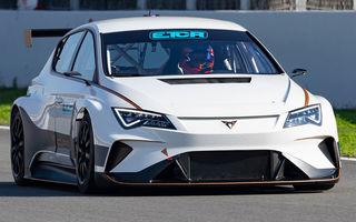 Prima apariție pe circuit a lui Cupra e-Racer: modelul electric va putea fi admirat din 2020 în cadrul unui campionat de turisme
