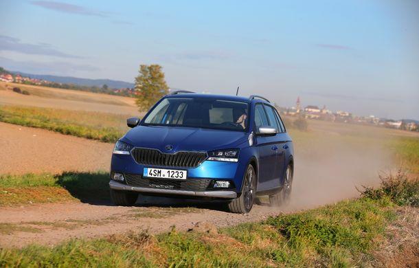 Primele imagini cu Skoda Fabia Combi Scoutline facelift: protecții suplimentare și doar motorizări pe benzină - Poza 10