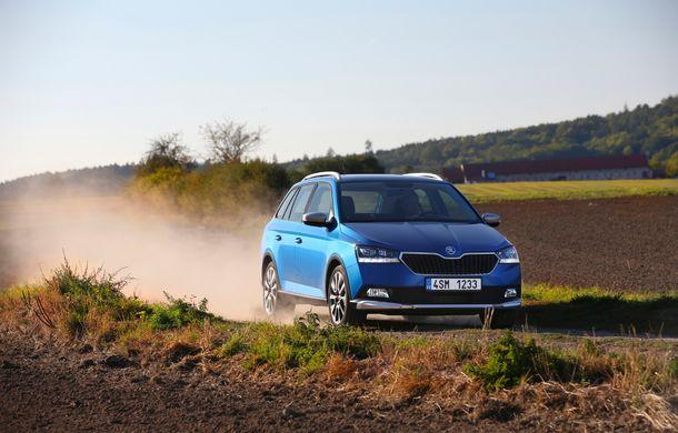 Primele imagini cu Skoda Fabia Combi Scoutline facelift: protecții suplimentare și doar motorizări pe benzină - Poza 8