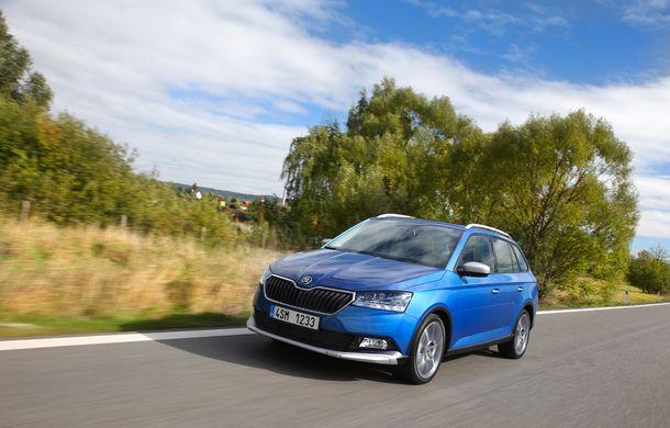 Primele imagini cu Skoda Fabia Combi Scoutline facelift: protecții suplimentare și doar motorizări pe benzină - Poza 4