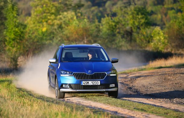 Primele imagini cu Skoda Fabia Combi Scoutline facelift: protecții suplimentare și doar motorizări pe benzină - Poza 9