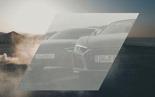 Audi R8 facelift, anticipat de un teaser: sportiva va avea grila mai lată și prize de aer modificate