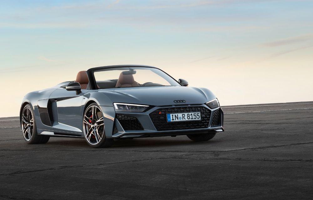 Audi R8 facelift, poze și detalii oficiale: modificări estetice minore, îmbunătățiri la nivelul suspensiei și motoare mai puternice - Poza 8