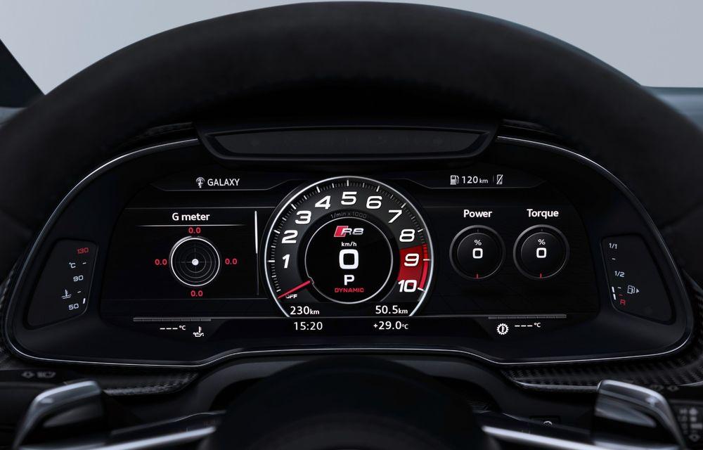 Audi R8 facelift, poze și detalii oficiale: modificări estetice minore, îmbunătățiri la nivelul suspensiei și motoare mai puternice - Poza 17