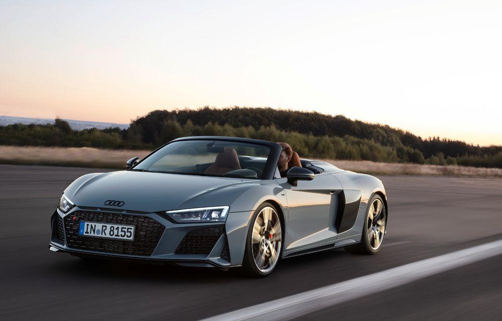 Audi R8 facelift, poze și detalii oficiale: modificări estetice minore, îmbunătățiri la nivelul suspensiei și motoare mai puternice - Poza 7