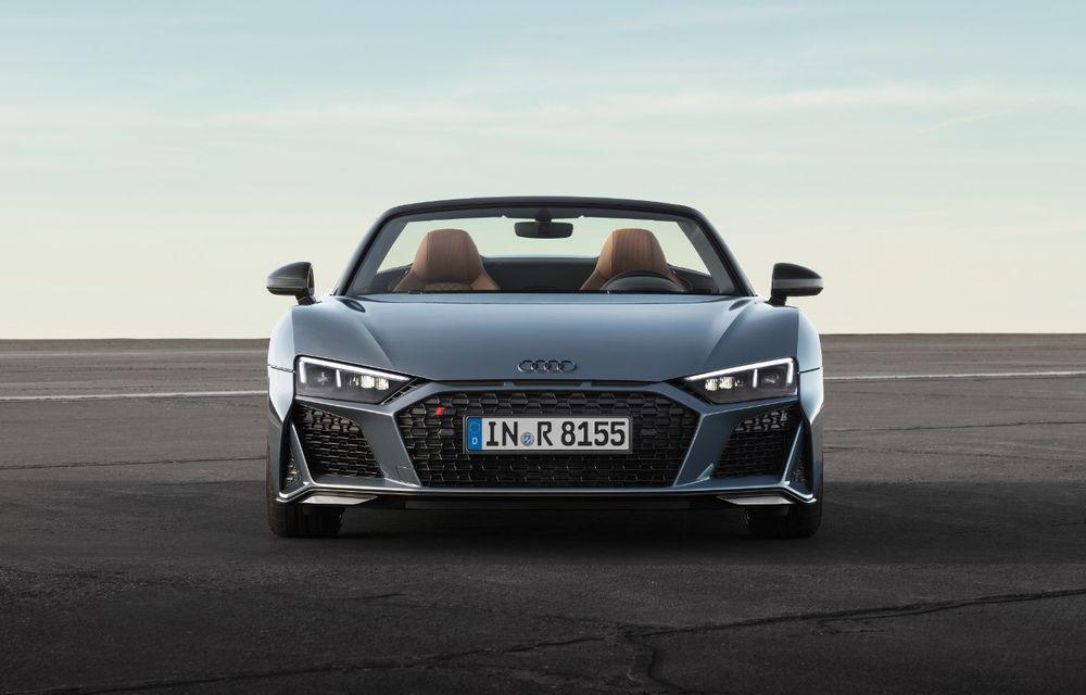 Audi R8 facelift, poze și detalii oficiale: modificări estetice minore, îmbunătățiri la nivelul suspensiei și motoare mai puternice - Poza 6