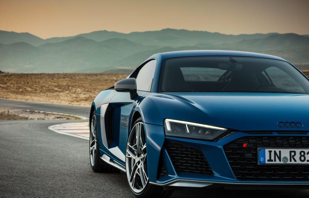 Audi R8 facelift, poze și detalii oficiale: modificări estetice minore, îmbunătățiri la nivelul suspensiei și motoare mai puternice - Poza 10