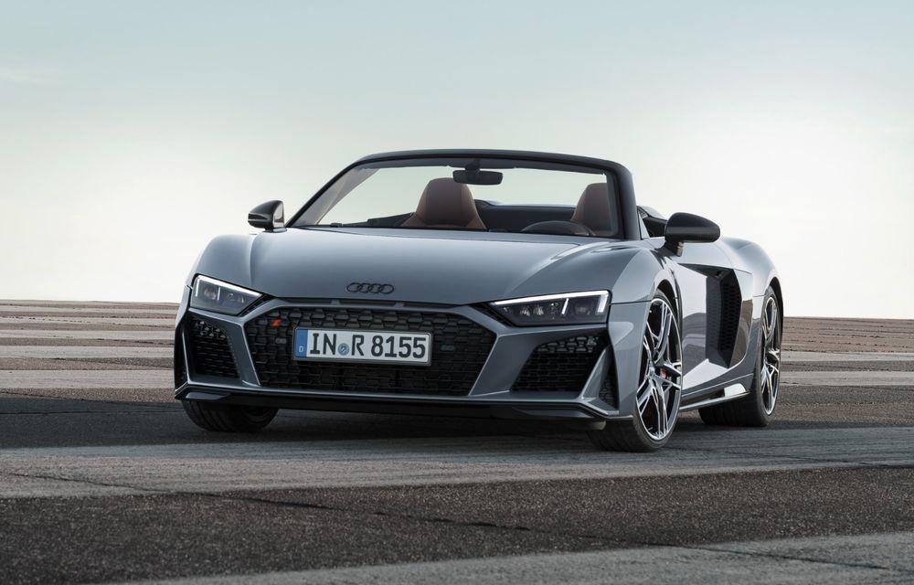 Audi R8 facelift, poze și detalii oficiale: modificări estetice minore, îmbunătățiri la nivelul suspensiei și motoare mai puternice - Poza 9
