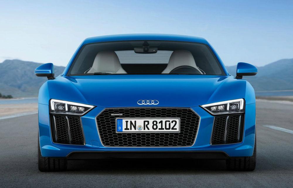 Audi R8 facelift, poze și detalii oficiale: modificări estetice minore, îmbunătățiri la nivelul suspensiei și motoare mai puternice - Poza 22