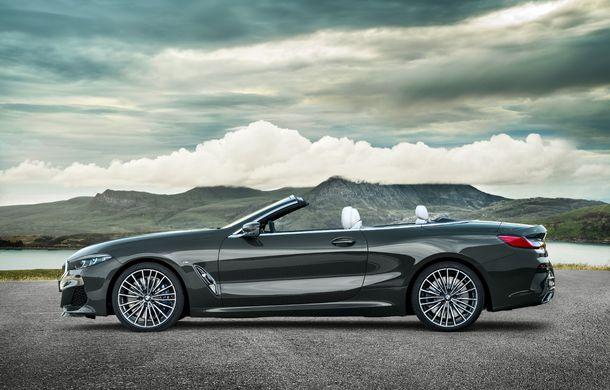 BMW Seria 8 Cabrio, poze și informații oficiale: motorizări de până la 530 CP și 15 secunde pentru plierea plafonului din material textil - Poza 13
