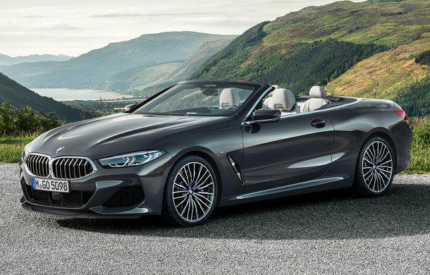 BMW Seria 8 Cabrio, poze și informații oficiale: motorizări de până la 530 CP și 15 secunde pentru plierea plafonului din material textil - Poza 1