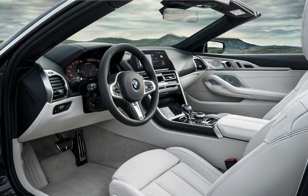 BMW Seria 8 Cabrio, poze și informații oficiale: motorizări de până la 530 CP și 15 secunde pentru plierea plafonului din material textil - Poza 37